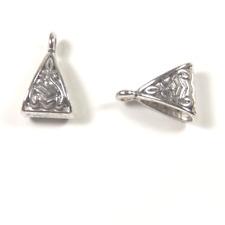 10 Bélières Perles Triangle Tribal 15mm x 10mm Connecteurs Argentées