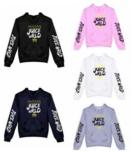 Boys Girls Casual Hoodie Juice Wrld Hip Hop Rapper Sweatshirt Hooded Pullover