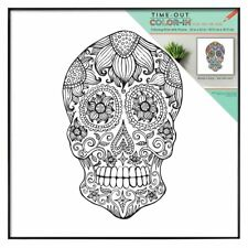 MCS 12x12 Inch Time-Out Color-In Frame Adult Coloring Page, Skull Design (65628)
