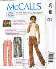 Easy Stretch Knit Elastic Waist Pants Shorts Sewing Pattern Size 6 8 10 12 14