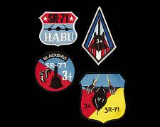 4 X  US Air Force Lockheed SR-71 Blackbird Patches Spy Plane Vietnam War CIA
