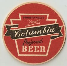 6 Columbia Beer Coasters Pennsylvania's Finest