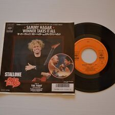 "(VAN HALEN) Sammy HAGAR - Winner takes it all - 1987 7"" SINGLE JAPAN PROMO COPY"