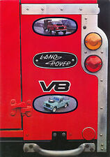 Land Rover V8 c.1985 Swiss market sales brochure