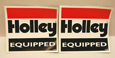 PAIR HOLLEY EQUIPPED NHRA GASSER HOT ROD RACING STICKERS DECAL** LOT OF 2**