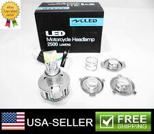1X H4 H6 BA20D LED White 25W 6000K 2500LM COB Car Motorcycle Headlight Bulb Lamp