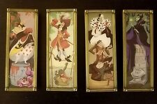 Disney Haunted Mansion Stretch Portrait Maleficent Queen of hearts Pin Set of 4