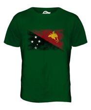 Papua Neu Guinea Distressed Flagge Herren T-Shirt Top Niugini
