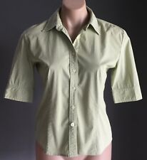 Like New Lime Green & White Check JONES NEW YORK Stretch Shirt Size S/AU10