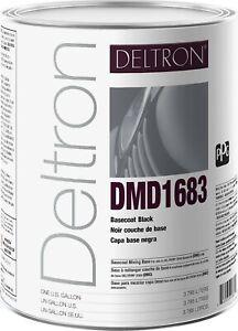 PPG Refinish Deltron 1 Gallon Black Paint  DMD1683