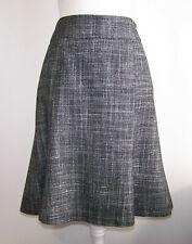 Ann Taylor LOFT Cotton Tweed Flare Skirt Size 6 Gray