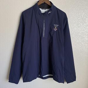 Kjus Men's Dexter 2.5L Half Zip Waterproof Blue Golf Jacket Size XL 54