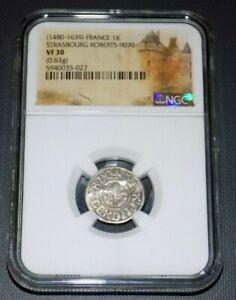 NGC FRANCE 1480-1639 STRASBOURG ROBERTS Kreuzer VF30 VF 30 Medieval Graded Coin