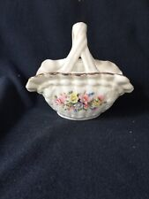 Ceramic Basket with Handle and Solid Marbles As Eggs