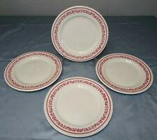 """Set of 4 Buffalo China KENMORE Red Restaurant Diner Ware 9"""" Dinner Plates"""
