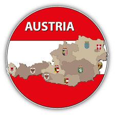 Austria Map Flag Car Bumper Sticker Decal 5'' x 5''