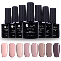 8 Flaschen 7.5ml Nackt Color Soak Off UV Gellack Nail Art Varnish DIY UR SUGAR