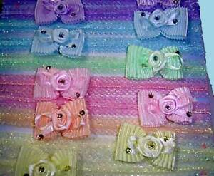 """12 Headbands Baby  Dressy 1/2"""" on DISPLAY For STORE  CLOSEOUT LOT"""