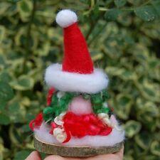 HAND-MADE XMAS TOMTE NISSE, GONK, GUARDIAN GNOME needlefelt  Christmas Tomte