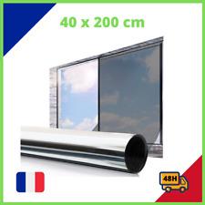 Film Miroir Fenêtre Réfléchissant Unique Adhésif 45x200 Cm Anti 92% UV Maison FR