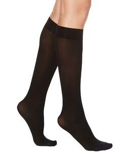 F239 Hue Espresso Brown Women's Flat Knit Knee Socks