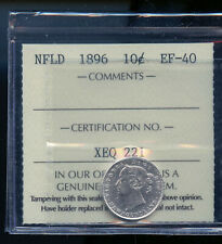 1896 Newfoundland 10 Cents ICCS Certified EF40 DCB267