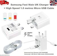 100% Official UK Mains 2A Adaptive Fast Charger for Samsung S6 S7 Edge Note 4 5
