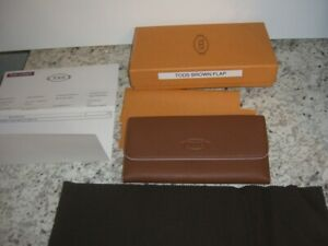 Tod's Brown/Tan Pebbled Leather Wallet NEW WITH BOX