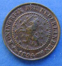 Nederland - The Netherlands 1894 halve cent, 1/2 cent, KM# 109