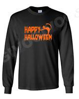 Long Sleeve Men's Happy Halloween #2 T Shirt Scary Funny Tee Costume Spooky