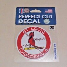 ST. LOUIS CARDINALS  4 X 4 DIE-CUT DECAL OFFICIALLY LICENSED PRODUCT
