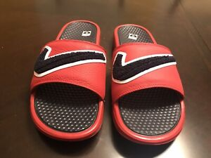 New Nike Benassi JDI Chenille Red Slides Size US 9