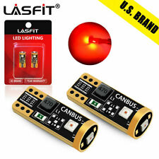 Lasfit T10 194 168 192 LED Interior Door Dome Trunk Map Light Bulbs Red Canbus