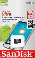 Sandisk 64GB Ultra Micro SDXC Class 10 Flash TF 30MB/S Memory Card