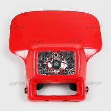 Mascherina portafaro con faro alogeno Ufo Honda XR 250 400 600 rosso headlight