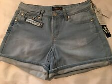 Seven 7 Womens Knit Denim Shorts Loose Cuff Size 4 NWT! MSRP:  $49.00
