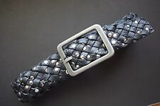 """NN FABULOUS BRAIDED AND STUDDED FAUX LEATHER JEANS BELT 34"""""""