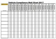 2017 Folded A2 Vehicle Routine Maintenance Planner Farm lorry Inspection Pmi