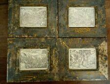Stampe Antiche , Lotto Di 4 Stampe Antiche , Stame A Tema Storico Religioso