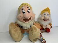 "Disney Store Exclusive Snow White 15"" Happy Dwarf Plush Toy & 9"" Bag Set"