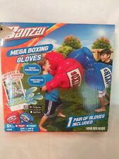 Kids Inflatable Mega Boxing Gloves by Banzai - Summer Fun for Outdoors! Blue
