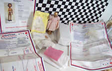UFDC 2004 Hitty Doll Kit Dress Gold Ball Stand White Organdy Embroidery Patterns