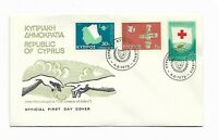 Republic of Cyprus-1975 Stamps on  5 X Official First Day Issue Covers