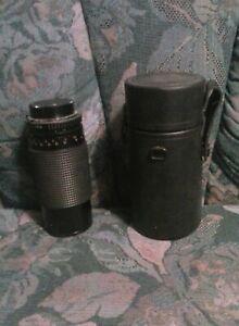 Minolta Zoom Multicoated Camera Lens Sears Model 202 80-200 mm f/1:4 w/ Case