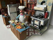 Palisades Muppet Show SWEDISH CHEF Figure Kitchen Used Some Accessories Muppets