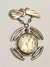 Early Vintage Gold Plated Pools of Light Crystal Ball Mercury Fob Pendant Watch