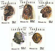 TANZANIA - Bustina 5 francobolli serie MASCHERE