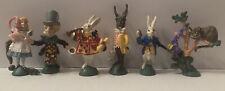 Vintage Disney 1990 Alice In Wonderland Pvc Figurines Toys Hamilton Lot Of 6