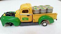 "John Deere 5"" Pickup Truck Farm Toy Green Metal Body Vintage"