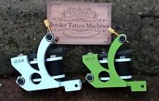 CUSTOM PAIR BORDER TATTOO MACHINES,LINER & COLOUR PACKER IRON FRAMES 32MM COILS